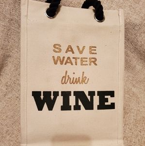 Bags - Save Water Drink Wine Bag Tote Gift